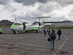 Flugzeug der Binter Canarias, der wichtigsten Fluglinie der Kanarischen Inseln (c) Tobias Schorr
