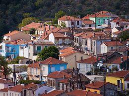 Die bunten Häuser von Agiasos