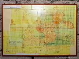 Militärkarte mit den Positionen der deutschen Stellungen auf Milos.