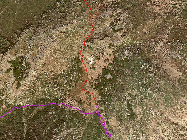 Lage der Nymphios-Hochebene. Google Earth View