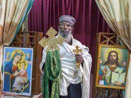 Der Priester einer orthodoxen Kirche