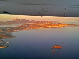Flight over Milos in the early morning