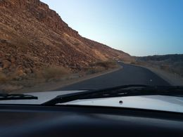 A scenic drive through volcanic landscapes.