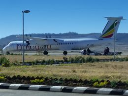 An airplane of Ethiopian Airlines