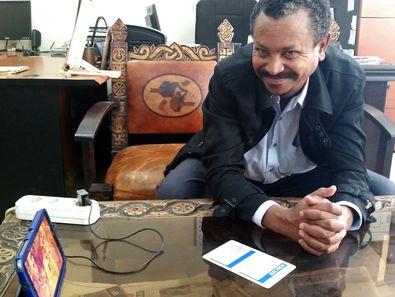 Enku Mulugheta who is guiding our tours in Ethiopia, 2015