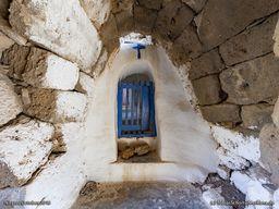 Der Gewölbe-Eingang zur Kapelle Agios Joannis im Nymphios-Tal. (c) Tobias Schorr