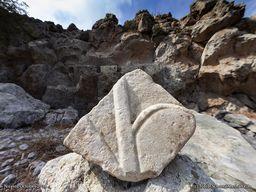 Detail des Marmor-Fragments. (c) Tobias Schorr 2018