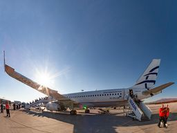 Viele Verbindungsflüge erreicht man mit Aegean Airlines von fast allen Flughäfen Europas. (C) Tobias Schorr