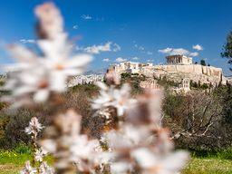 Blick auf die Akropolis von Athen mit dem Parthenon-Tempel. (c) Tobias Schorr 2020