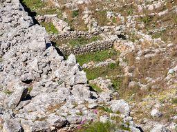 Gebäudereste an der Westmauer der mykenischen Festung Midea. (c) Tobias Schorr