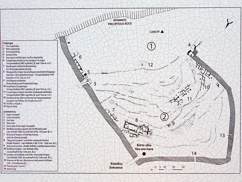 Plan der Ausgrabung Midea