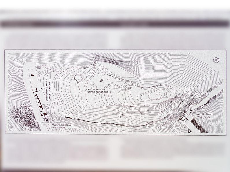 Plan der oberen Akropolis von Midea