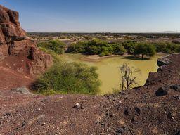 An diesem Ort quoll Lava aus einer Spalte, die zeigt, dass Afrika hier irgendwann auseinander brechen wird. (c) Tobias Schorr