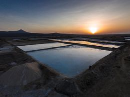 The salines where the salt crystals are mined.