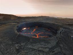 Luftbild des Lavasees im Dezember 2014 (c) Tobias Schorr
