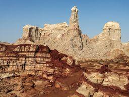 Das Salzgebirge am Rand des Dallol