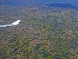 Flight over the highlands of Ethiopia