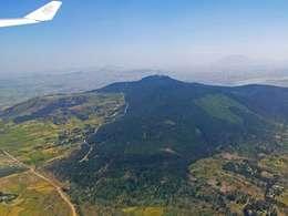 Kurz vor der Landung in Addis Abeba