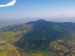 Flug über das äthiopische Hochland