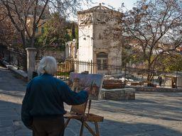 Der Turm der Winde in der römischen Agorá in Athen