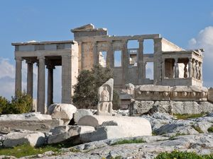 The Erehteion temple on the Acropolis
