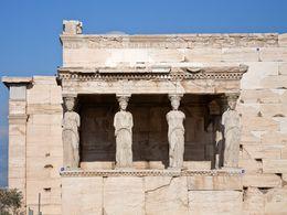The famous Karyatides of the Acropolis