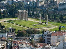 Reste des Tempels des olympischen Zeus