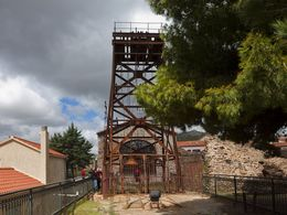 An old mine shaft at the mineral museum of Agios Konstantinos near Lavrio