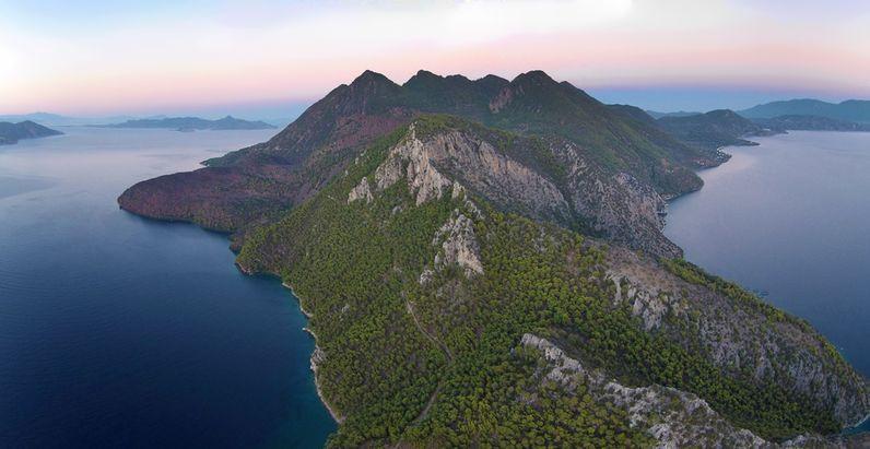 Luftbild der Halbinsel Methana (c) Tobias Schorr