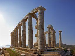 Der berühmte Poseidon-Tempel von Sounion. (c) Tobias Schorr