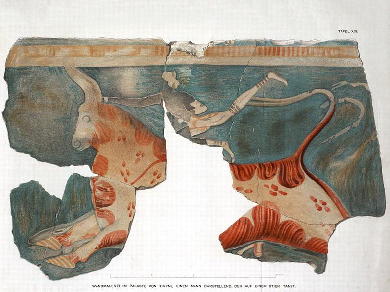 Fresken aus dem Megaron von Tyrins