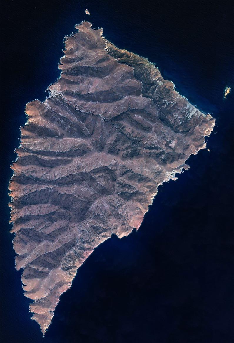 Satellitenbild der Insel Agios Evstratios von Google Earth View