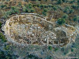 Luftbild der Akropolis von Galatá. (c) Tobias Schorr