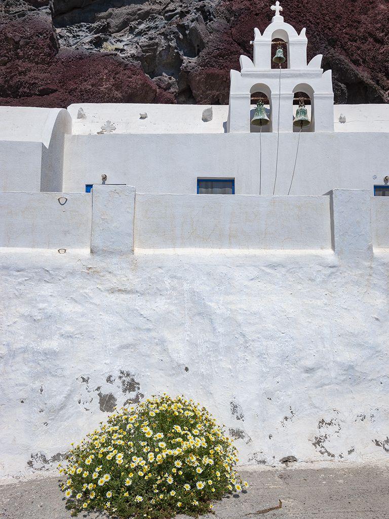 Die Kapelle Agios Nikolaos am roten Strand von Akrotiri. (c) Tobias Schorr 2007