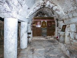 Das Innere der Agios Stefanos Kapelle in Alt Thera. (c) Tobias Schorr