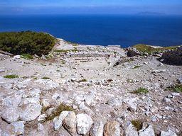 Das antike Theater auf dem Berg von Alt Thera. (c) Tobias Schorr