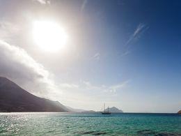 Blick in die Bucht von Aegialis