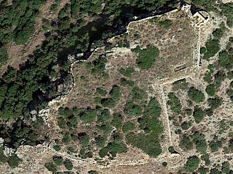 Luftbild der Akropolis Arkadiko (c) Google Earth View