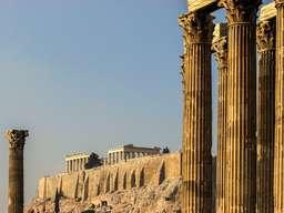 Blick vom Tempel des Olypmischen Zeus zur Akropolis. (c) Tobias Schorr
