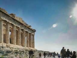 Der Tempel der Athena Parthenon auf der Athener Akropolis. (c) Tobias Schorr