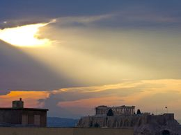 The Acropolis in dramatic light