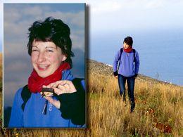 Manchmal finden, wie hier Katharina, auch Jugendliche auf den Exkursionen interessante archäologische Reste. (c) Tobias Schorr