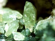 Diopsite crystals from Nisyros volcano