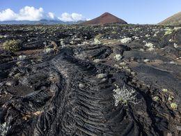 An old lava flow near La Restinga