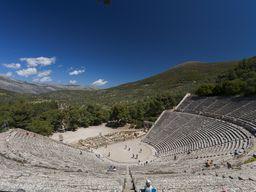 The famous, ancient theater of Epidavros. (c) Tobias Schorr
