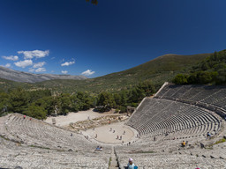 Das große, berühmte Theater von Epidaurus