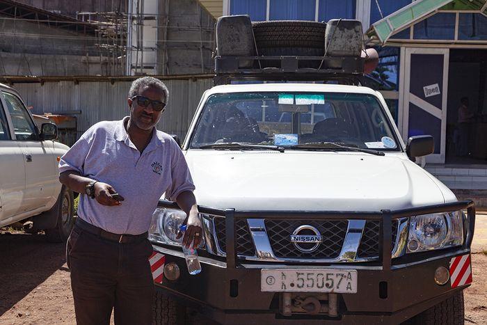 Samson Teshome Demena war mein Begleiter auf der ersten Etappe der Reise. (c) Tobias Schorr
