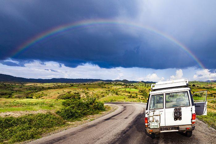 Nach einem Gewitter genossen wir diesen wunderschönen Regenbogen. (c) Tobias Schorr