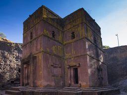 Die aus dem Fels gehauene Grigoris-Kapelle in Lalibela (c) Tobias Schorr