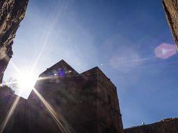 Sonne an der Grigoris-Kirche in Lalibela (c) Tobias Schorr
